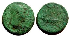 Ancient Coins - Hadrian AE As.  COS III galley with rowers and pilot right, SC below.