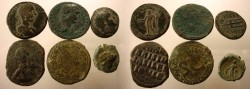 Ancient Coins - Beautiful Lot of 6 Interesting Unattributed Greek, Roman, Provincial and Byzantine AE