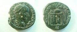 Ancient Coins - Gordian III AE30 of Anchialos, Thrace.  Table, jug below, prize urn on top with palm branches, E in ex.