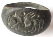 Ancient Coins - BEAUTIFUL ROMAN BRONZE SIGNET RING