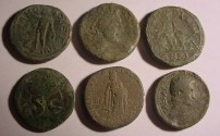 Ancient Coins - Lot of 6  Interesting Unattributed  Misellaneus Roman coins    F