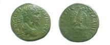 Ancient Coins - Augusta Trajana.  Eagle standing on thunderbolt, head raised, laurel-wreath in beak.