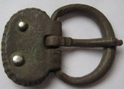 Ancient Coins - ROMAN MILITARY BRONZE BUCKLE.Circa 2nd-4th century AD.Unusual design.