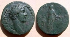 Ancient Coins - Marcus Aurelius as Caesar AE Sestertius.  IVVENTAS S-C, Juventas, draped, standing left dropping incense onto altar left, and holding patera.