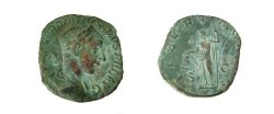 Ancient Coins - Gordian III AE Sestertius.  LIBERTAS AVG S-C, Libertas standing left with pileus and scepter.