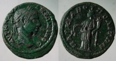 Ancient Coins - Elagabalus AE20 of Markianopolis, Moesia Inferior.Aequitas standing left with scales