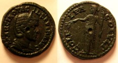 Ancient Coins - Otacilia Severa AE22 of Deultum, Thrace.