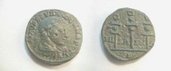 Ancient Coins - Severus Alexander AE21 of Nicaea in Bithynia.  NIKAEI-WN between 3 standards.