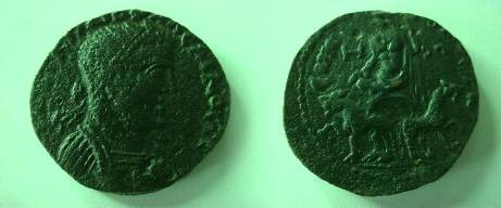 Ancient Coins - Gallienus AE  28  from where? / Kybele facing in biga of lions.Beautiful  patina!! GVF