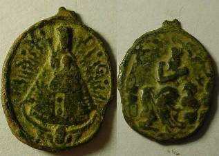 Ancient Coins - Beautiful, (18 century)?Christian. pendant with   interesting design  .