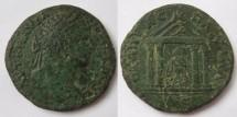 Ancient Coins - Caracalla, AD 198-217 AE 29of Pautalia, Thrace.Tetrastyle shrine with  Asclepios