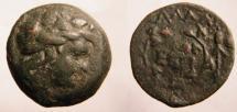 Ancient Coins - Moesia Inferior, Kallatis AE22.ca 3rd-2nd Century BC. Laureate head of  Dionysos' righ