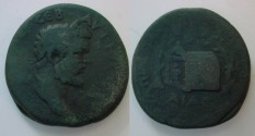 Ancient Coins -  Septimius Severus) AE30 of Pautalia / Shrine of Asklepios. Unlisted
