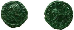 Ancient Coins - Caracalla AE17 of Markianopolis. Lion walking left.