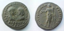 Ancient Coins - Philip I & Otacilia Severa AE28 of Tomis, Thrace.  Tyche standing left with patera & cornucopiae.