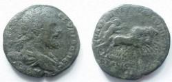 Ancient Coins - Septimius Severus AE28 of Nikopolis ad Istrum.  Victory galloping right in quadriga.