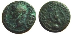 Ancient Coins - Divus Augustus AE As.  IMP T CAES AVG RESTITVIT S C, eagle standing on globe, head right.