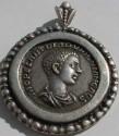 Ancient Coins - BEAUTIFUL SILVER PENDANT-DIADUMENIAN