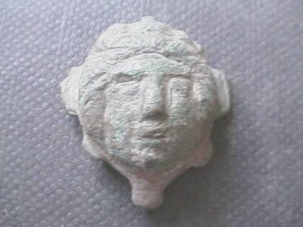 Ancient Coins -  Roman bronze head.  30mm.