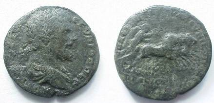 Ancient Coins - Septimius Severus AE28 of Nikopolis ad Istrum.  Victory galloping right in quadriga.