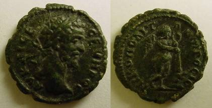 Ancient Coins - Septimius Severus AE 18mm of Nikopolis, Moesia Inferior.Genius of Death,