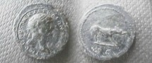 Ancient Coins - Trajan Æ Quadrans.  S C in exergue, she-wolf standing right.