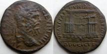 Ancient Coins -   MOESIA INFERIOR, Nicopolis. Septimius Severus. 193-211 AD. Æ 27mm .The nymphaeum of Nicopolis.