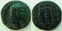 Ancient Coins - Caracalla AE30 of Pautalia, Thrace.Three Graces stg. side by side,