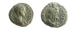 Ancient Coins - Caracalla AE17 of Nikopolis ad Istrum.  Laureate bust of Serapis right.