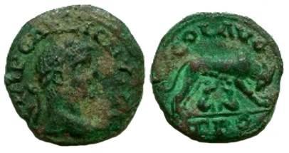Ancient Coins - Alexandria Troas.  COL AVG TRO, she-wolf suckling Romulus & Remus.