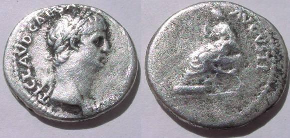 Ancient Coins - CLAUDIUS ,AR DENARIUS.CONSTANTIAE AVGVSTI.RR