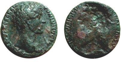 Ancient Coins - Marcus Aurelius Brockage AE As, 24mm.
