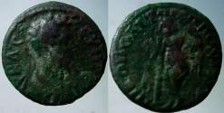Ancient Coins - Septimius Severus AE 18mm of Nikopolis, Moesia Inferior.Genius of Death