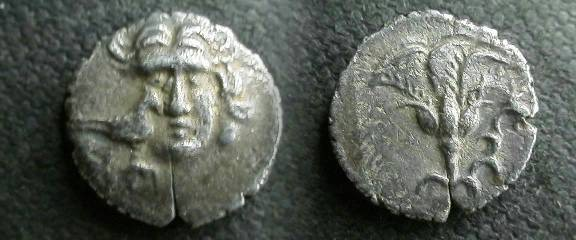 Ancient Coins - Rhodian Peraia, Carian Islands, AR Drachm.  Rose with bud.