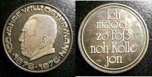 World Coins - Germany Nd AR Medal 1876-1976 commerative Proof, .1000 Silver