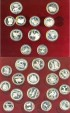 World Coins - Russia Olympic Set 1980 Proof (28 pc) w/box, .900 Silver