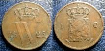 World Coins - NETHERLANDS 1826 CENT KM#47 VF