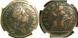 Us Coins - USA COLONIAL WOOD'S HIBERNIA 1723/2 NGC XF-40BN