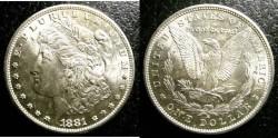 Us Coins - MORGAN DOLLAR 1881-S MS-64 SEMI  P/L