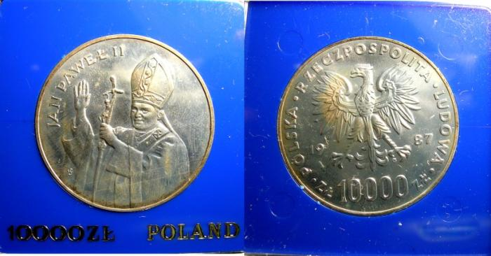 World Coins - POLAND 10,000 ZLOTYCH BU IN ORIGINAL CASE