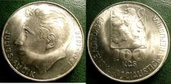 World Coins - CZECHOSLOVAKIA ND 1978 100  KORUN BIRTH OF JULIUS FUCIK  KM-92 BU/UNC; .700 SILVER