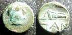 Ancient Coins - Thrace- Pantikapaion  AE12.5 mm, 4th C. BC VF