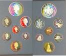 World Coins - Canada 1994 Proof Set, Burgundy Case, Dog Team Patrol