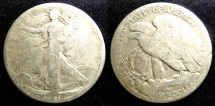 Us Coins - Walking Liberty 1/2 Dollar 1918 G/AG-3