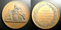 World Coins - German Medal AE 1864, 70 mm AU/Unc.