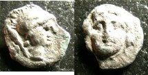 Ancient Coins - Selge - Pisidia, Gorgoneion AR Trihemiobol 350-325 BC