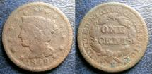 Us Coins - LARGE CENT 1848 CORRODED, FILLER
