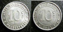 World Coins - France- Herault 10 Centimes 1921 BU/Unc.