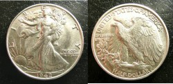 Us Coins - Walking Liberty 1/2 Dollar 1942  MS-60