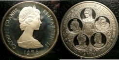 World Coins - CAYMAN ISLANDS $50.00 KM#12 PROOF 65, .925 SILVER
